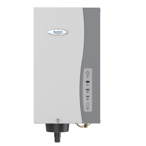 Aprilaire 865 Whole House Steam Humidifier with Wall Mount Fan for Homes without HVAC Duct System.