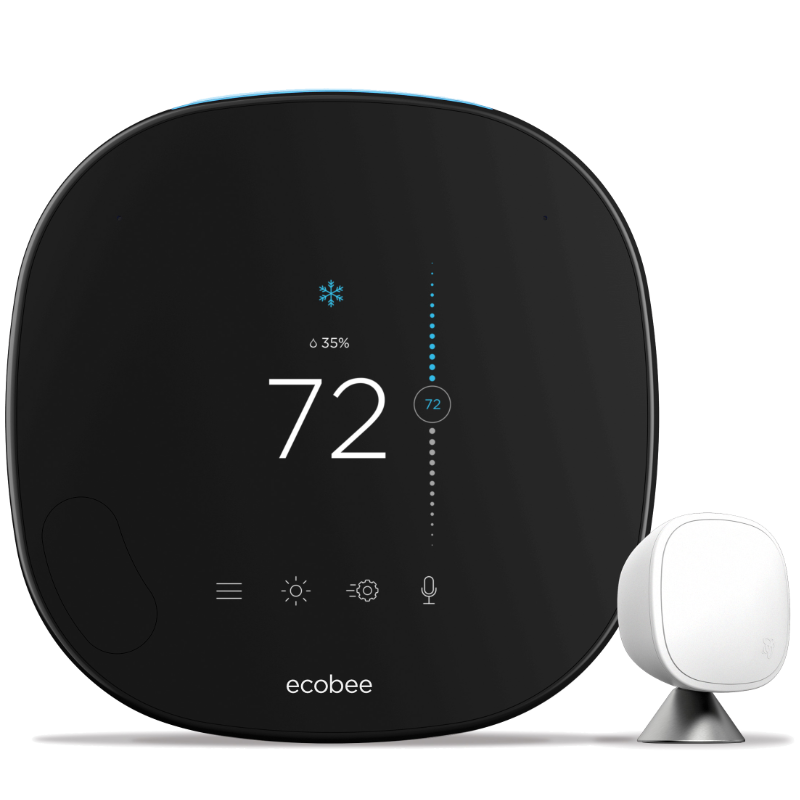 ecobee SmartThermostat Pro with Voice Control.