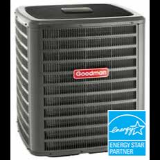 Goodman GSXC18 air conditioner.