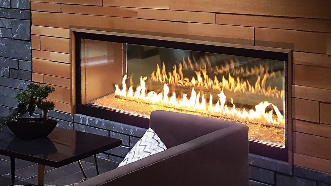 Heat & Glo Foundation See-Through Gas Fireplaces.