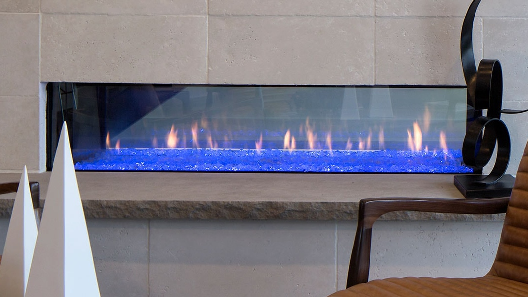 Heat & Glo PRIMO See-Through Gas Fireplace.