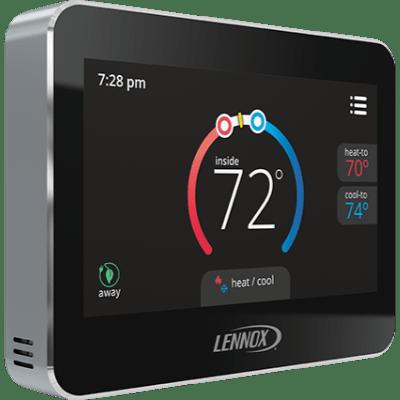 Lennox ComfortSense 5500 thermostat.