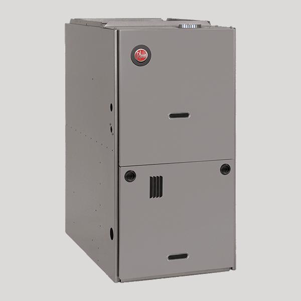 Rheem R801P downflow gas furnace.