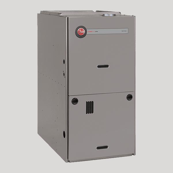 Rheem R802P downflow gas furnace.