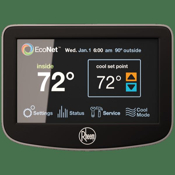 Rheem EcoNet™ Control Center thermostat.