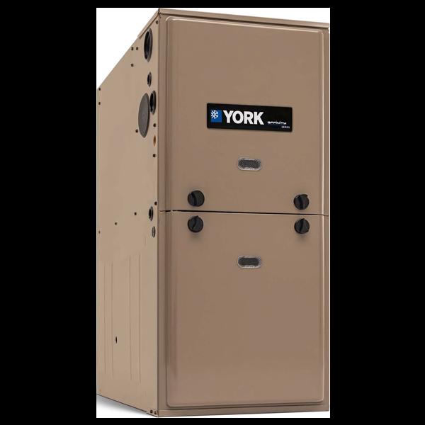 York YPLC 80% AFUE Modulating Gas Furnace.